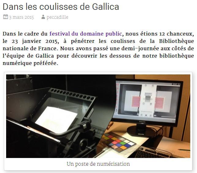 Dans les coulisses de GALLICA