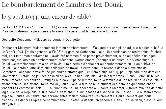 Des héros - Lambres-lez-Douai