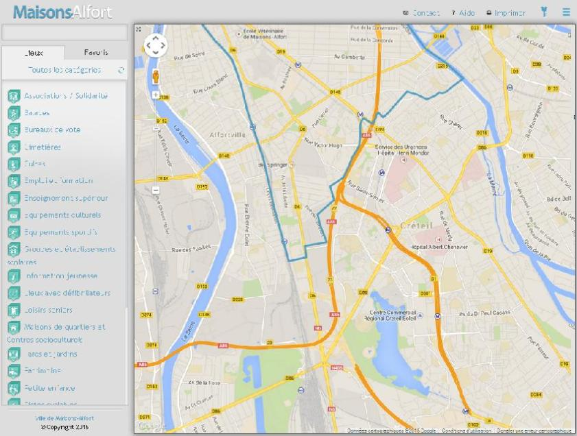 MA - Carte interactive