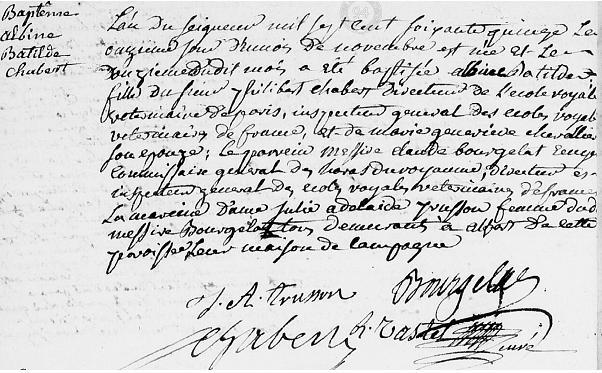 1775 11 novembre fille de Philibert Chabert