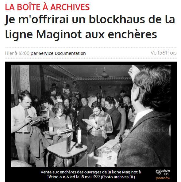 Blokhaus de la ligne Maginot