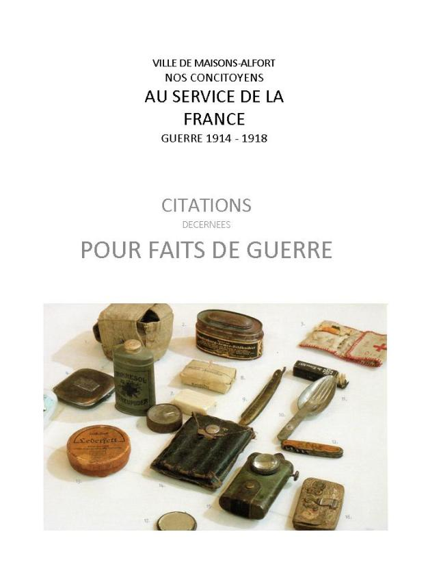 GUERRE 1914 - 1918 CITATIONS pptx