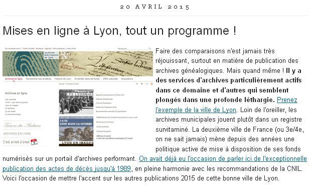 Lyon mise en ligne