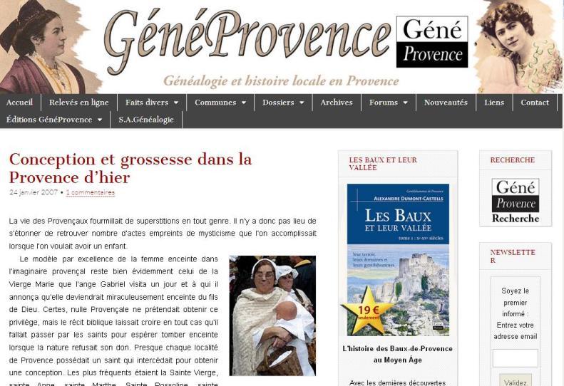 Grossesse en Provence