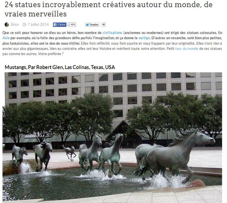 24 statues incroyables