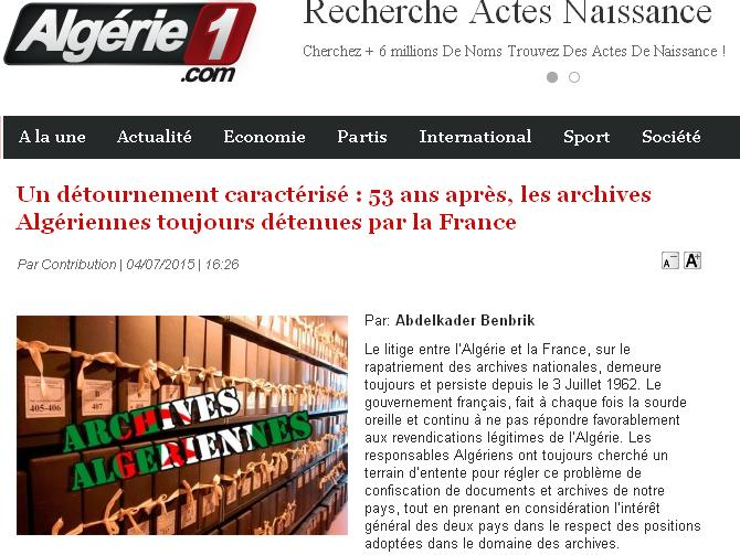 Archives Algériennes