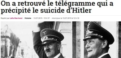 Télégramme Hitler