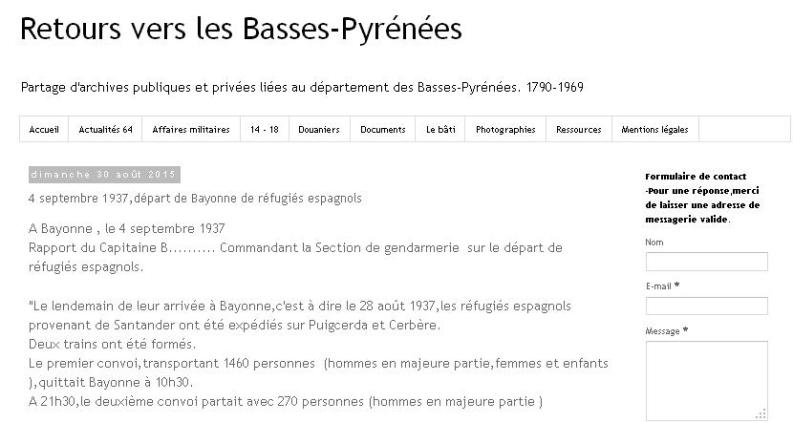 4 septembre 1937 Départ de Bayonne