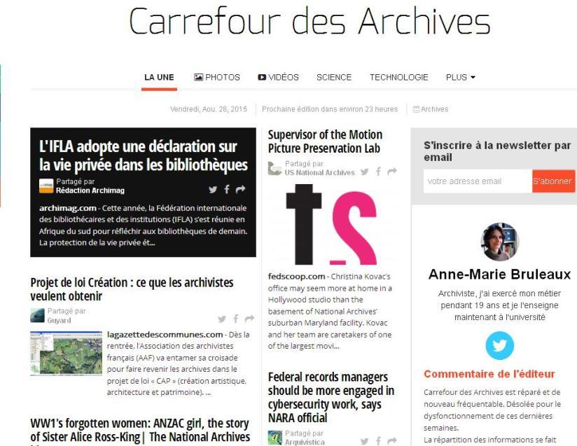 Carrefour des archives 28-08-2015