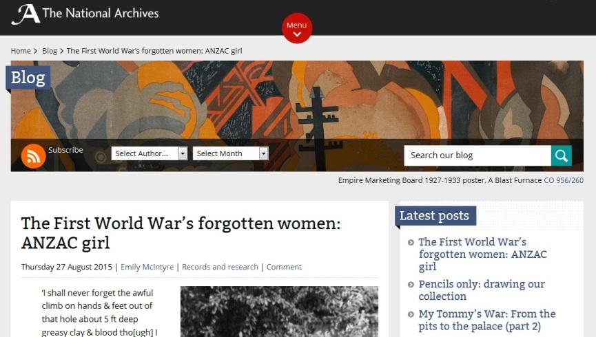 First WW1 forgotten girl