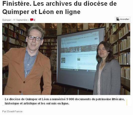 Finistère Archives Diocèse en ligne