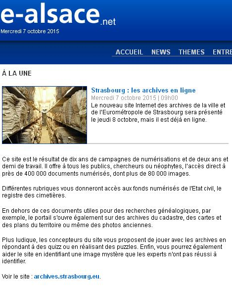 Archives de Strasbourg
