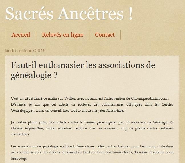Euthanasier les associations de généalogie