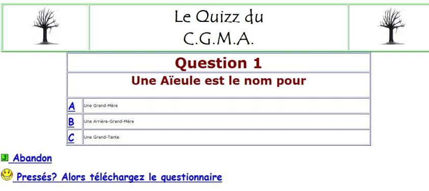 Le quiz du CGMA