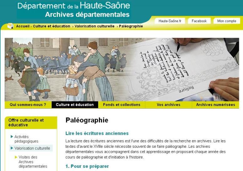 Paléographie AD Haute-Saône