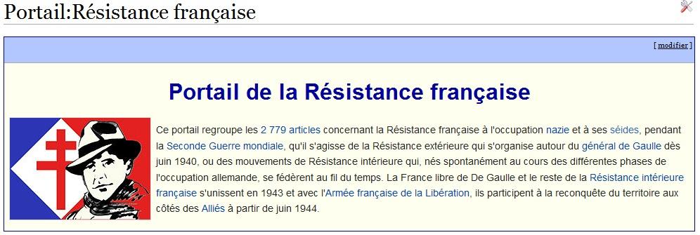 Portail Résistance Française