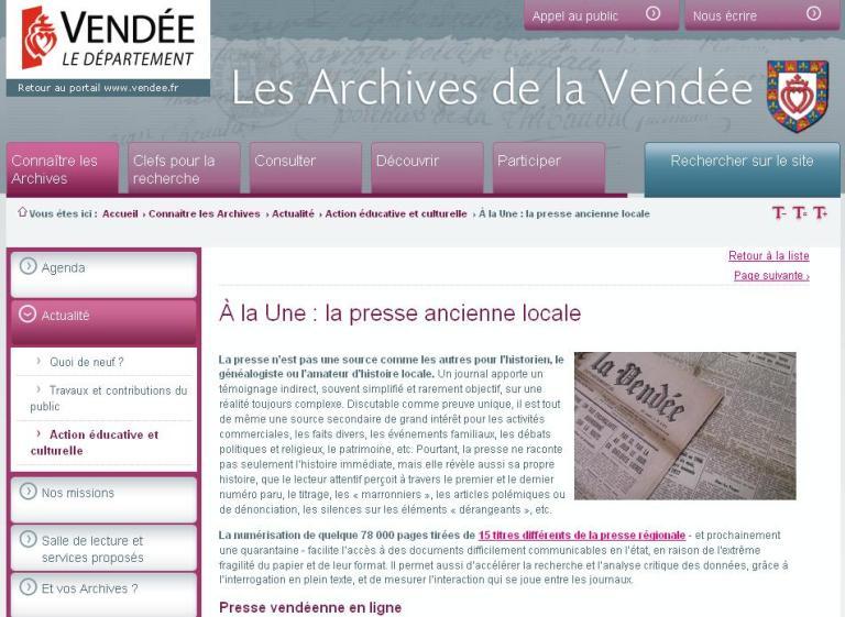 Presse locale Vendéenne