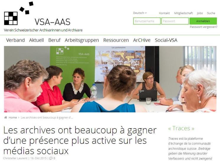 VSA-AAS - Archives et réseaux sociaux