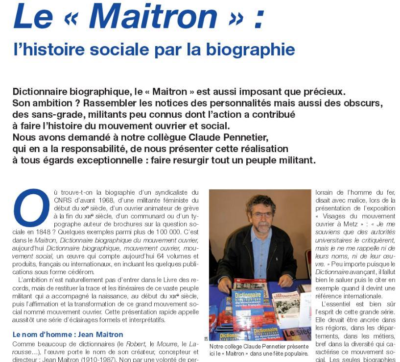 Le Maitron
