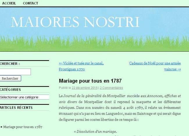 1787 - Mariage pour tous