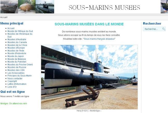 Sous marins musées