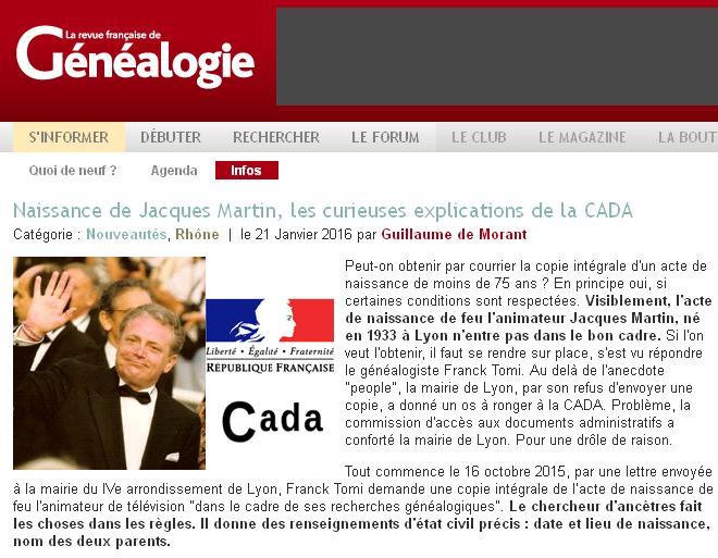 CADA et Jacques Martin