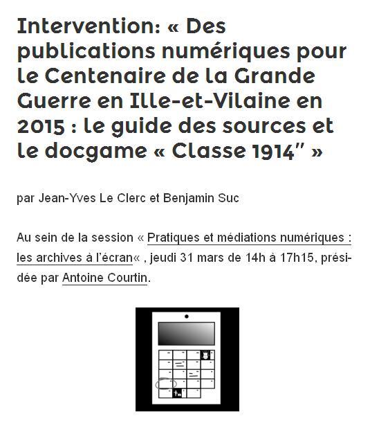 Docgame - Classe 1914