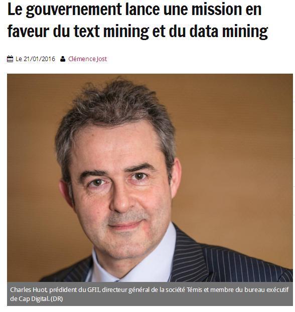 Text et Data mining