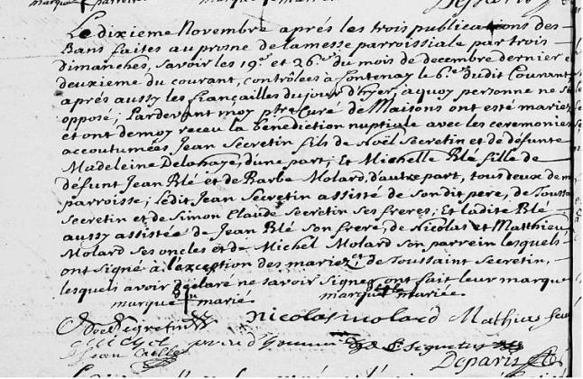 1704-11-10 Mariage Secrétin