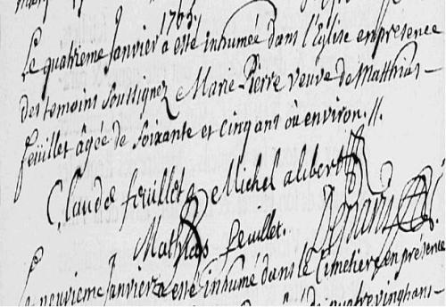 1705 janvier 4 Feullet