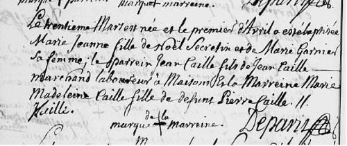 30 Mars 1706 Baptême Secrétin