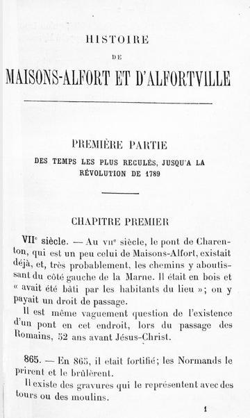 Histoire de MA et Alfortville
