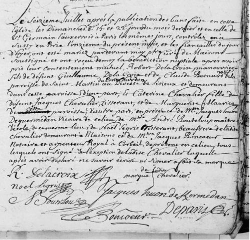 1715 le 16 juillet - Mariage