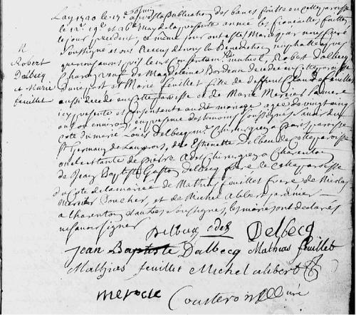 1720 19 juin  DELBECQ x FEUILLET