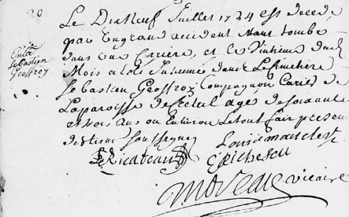 1724 19 juillet D Sébastien GEOFFROY