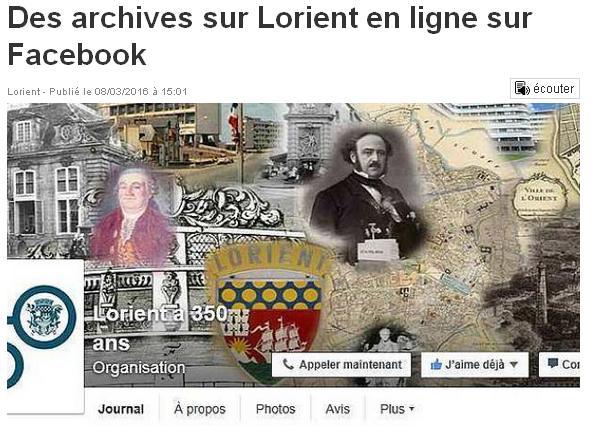 Lorient AC en ligne sur FB