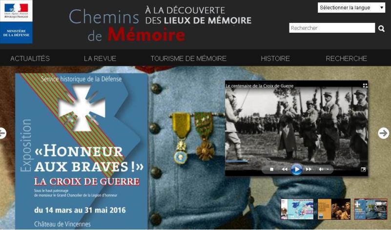 Ministère D2fense - Chemins de Mémoire