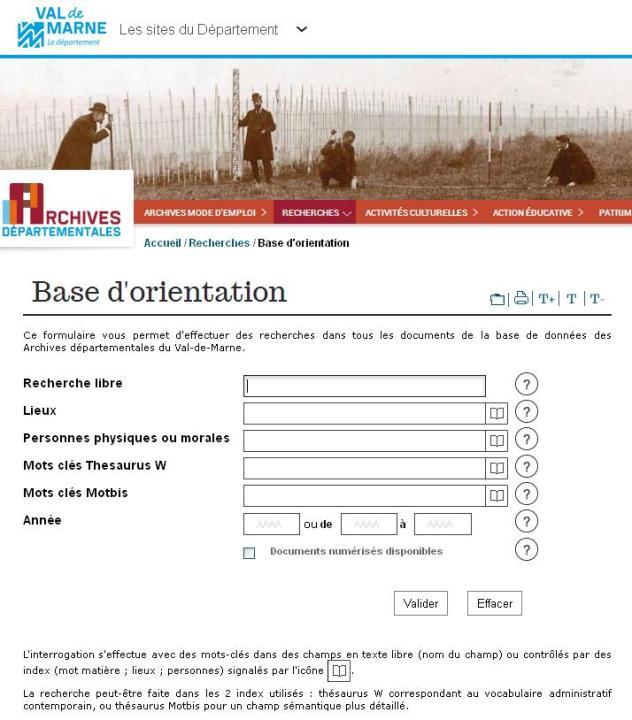 AD 94 Base d'Orientation