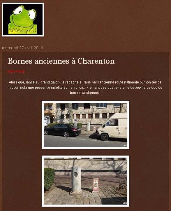 Bornes anciennes à Charenton