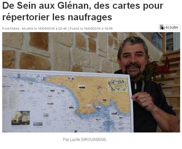 Carte de Sein et des Glénans