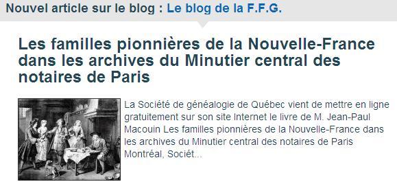 FFG - Minutier Central