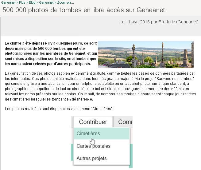 Geneanet 500000 tombes