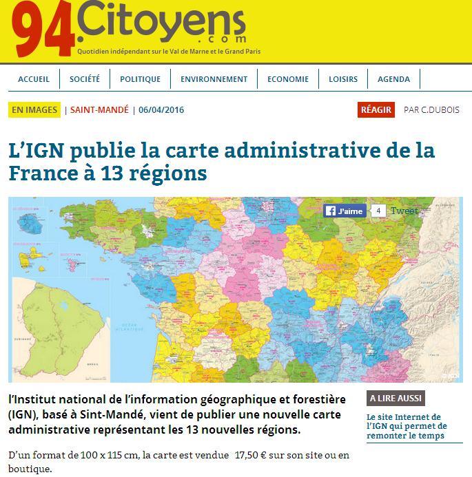 IGN 13 régions
