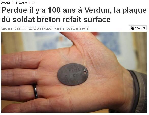Perdue il y a cent ans à Verdun