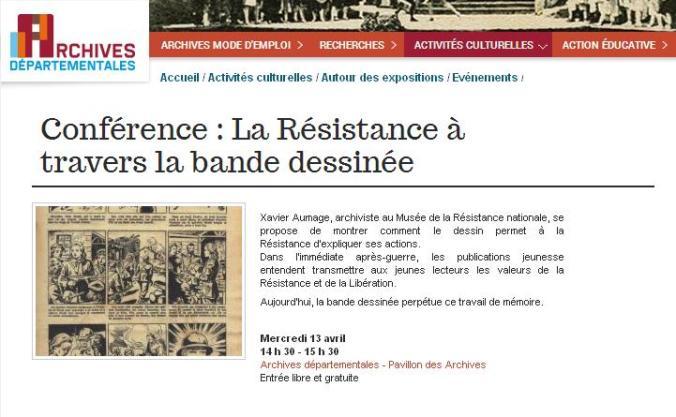 Résistance en BD