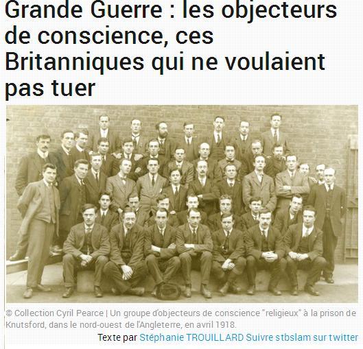 WW1 objecteurs de conscience
