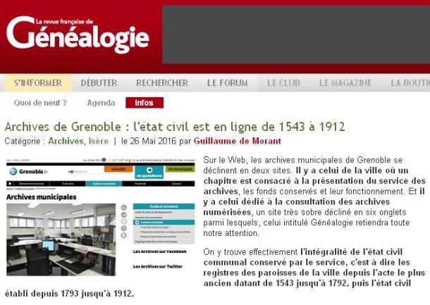Grenoble en line