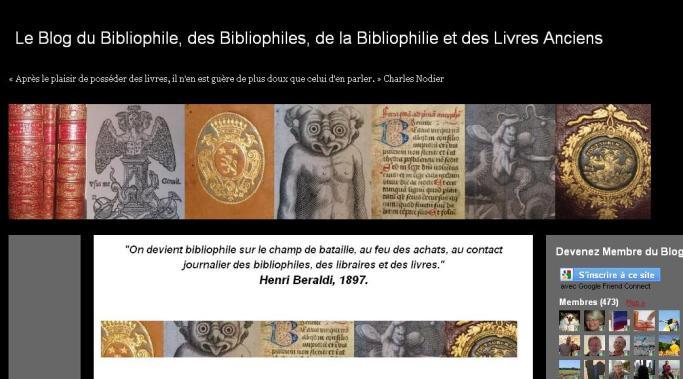 Le blog du bibliophile