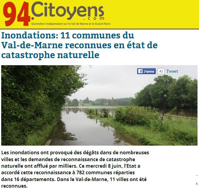 11 communes du VDM en éta de catastrophe naturelle