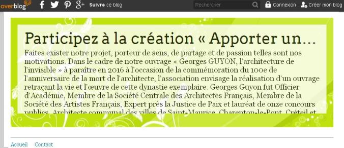 AMIS de Georges GUYON Blog